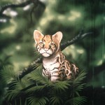 Baby-ocelot-mural-Paul-Barker-for-Rainforest-Cafe