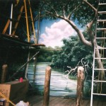Columbus-Zoo-mural-by-Paul-Barker-wharf-scene