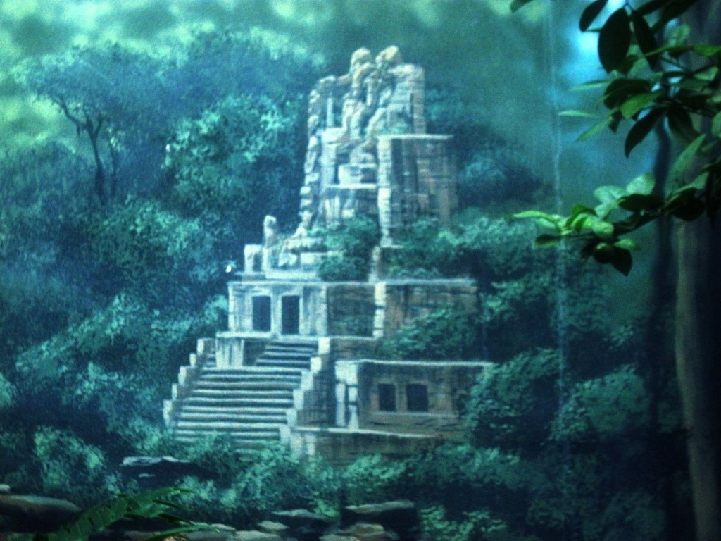 Ancient temple in the rainforest, mural by Paul Barker