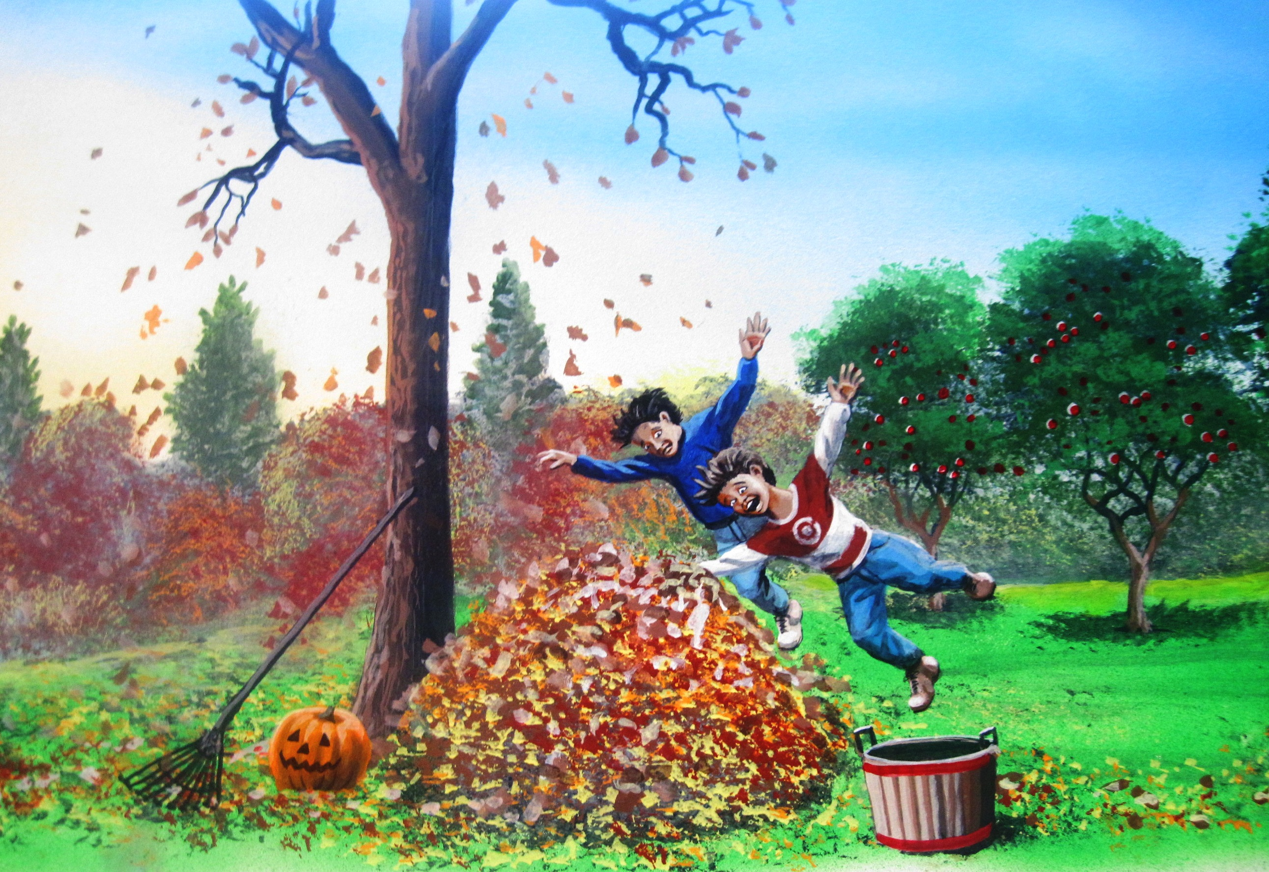 Evanston-School-autumn-leaves-mural-Paul-Barker-Googleplex
