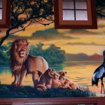 Henry-Vilas-Zoo-Visitor-Center-lion-crested-crane-mural-Paul-Barker