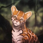 Mural-of-baby-ocelot-Rainforest-Cafe-Paul-Barker