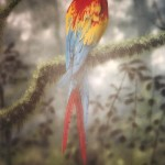 Mural-of-macaw-for-Rainforest-Cafe-by-Paul-Barker