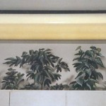Mural of kitchen plants above cabinets by Paul Barker of Googleplex