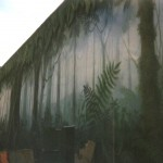 Rainforest-Cafe-exterior-wall-mural-by-Paul-Barker