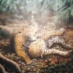 Rainforest-Cafe-mural-of-jaguars-playing-Paul-Barker
