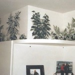 Residential murals by Paul Barker, plants above kitchen cabinets