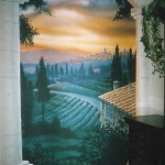 Residential-murals-Tuscany-sunset-Paul-Barker