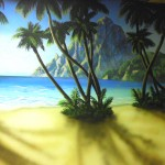 Residential-tropical-palm-beach-mural-Paul-Barker-Googleplex