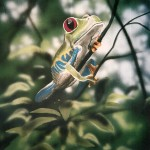 Tree-frog-mural-Rainforest-Cafe-Paul-Barker