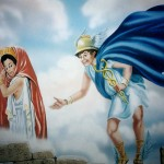 Greek-Restaurant-Hermes-mural-Paul-Barker