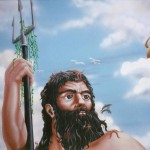 Greek-Restaurant-Poseidon-mural-Paul-Barker