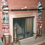 Carved-totem-pole-fireplace-by-Paul-Barker