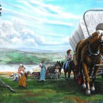 Mural of KWU's pioneer history by Paul Barker