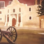 Mural-of-Alamo-cannon-for-charity-booth-backdrop-by-Paul-Barker