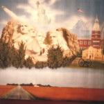 Paul-Barker-with-patriotic-America-mural-for-charity-booth
