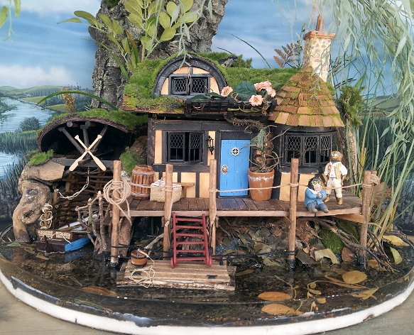 "Figurine of Ratty from ""Wind in the Willows"" by miniaturist Paul Barker"