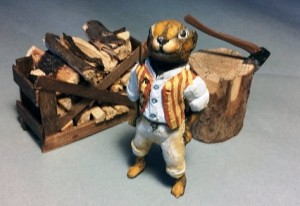 Figure of Ratty from Wind in the Willows by scenic artist Paul Barker