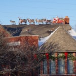 Santa-and-team-on-roof-2013-by-Paul-Barker