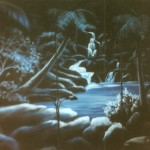 Sea-World-Luau-tent-mural-Paul-Barker
