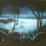 Sea-World-Luau-tent-night-murals-Paul-Barker
