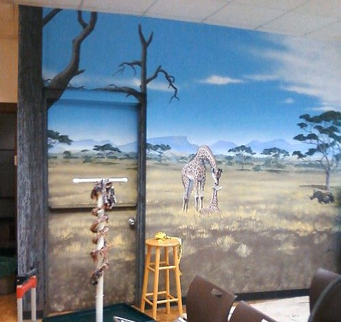 Henry Vilas Zoo classroom mural in Education Center by Paul Barker