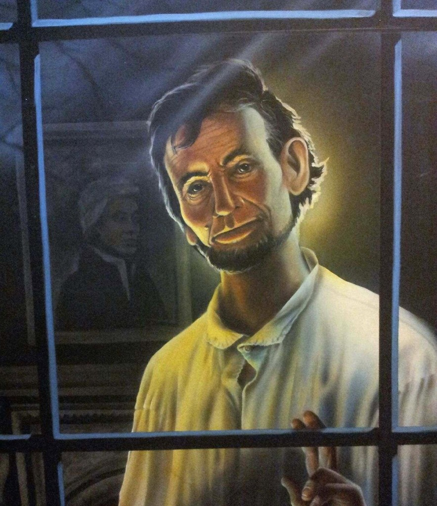 Painting-of-Abraham-Lincoln-by-muralist-Paul-Barker