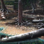 Pennypack-Environmental-Center-mural-tree-trunks-Paul-Barker