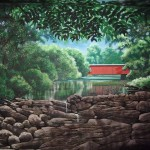 Wissahickon-Environmental-Center-covered-bridge-mural-by-Paul-Barker