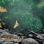 Wissahickon-Environmental-Center-murals-by-Paul-Barker-butterflies
