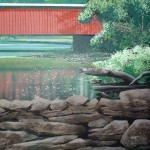 Wissahickon-Environmental-Center-murals-by-Paul-Barker-covered-bridge
