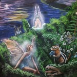 Fairy-mural-by-Paul-Barker-fairies-and-animals-detail