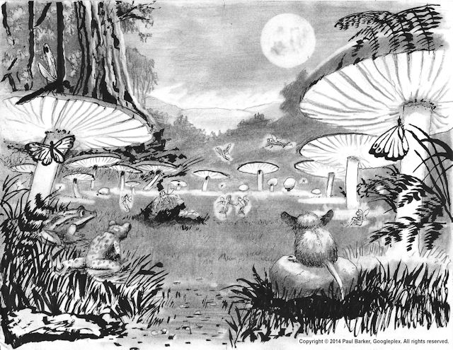 Sketch of fairy ring for a child's mural by Paul Barker