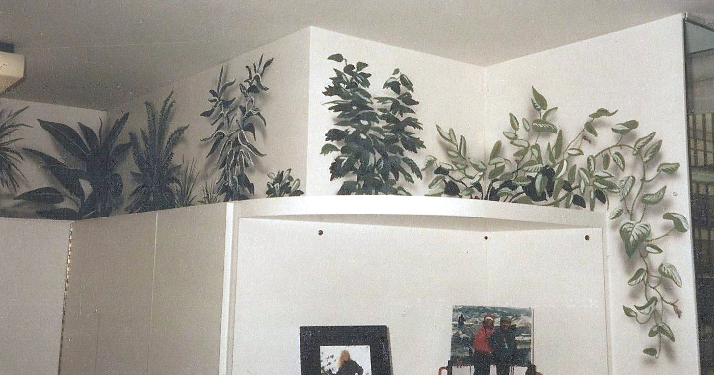 Residential Mural Plant Over Cabinets Paul Barker